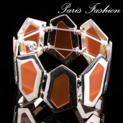 Bracelet Hexagone, orange.