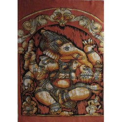 Batik Ganesh orange modèle 2, 60x80cm