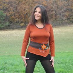 Tee shirt manches longues Feuille d'Automne