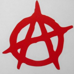 Stickers Anarchy, rouge.