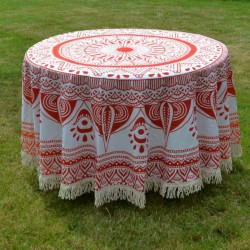 Nappe Deoghar rouge