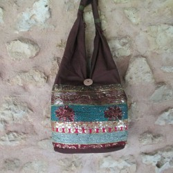 Sac indien marron