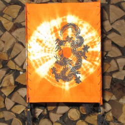 Lampion en tissu Dragon, orange.