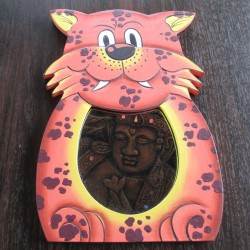 Miroir enfant tigre orange