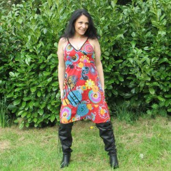 Robe mouvement hippie, rouge