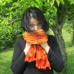 Foulard chèche Indiana, orange