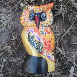 Hibou Funky, orange14cms.