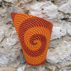 Applique murale Spirale, orange.