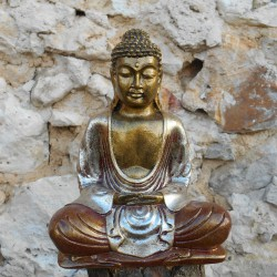 Statue Bouddha Red Silver, 20 cms