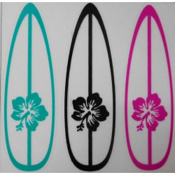 Stickers 3 planches hibiscus.