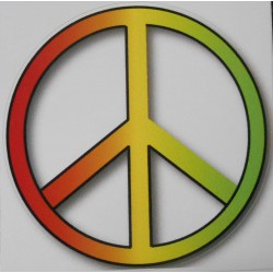 Stickers Peace and Love rasta.