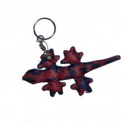 Porte-clef Animal de sable, margouillat, rouge.
