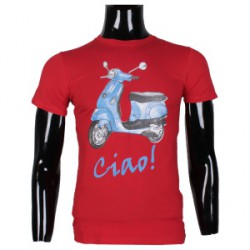 Tee shirt Ciao rouge