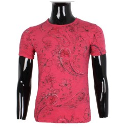 Tee shirt Homme summer flower fushia