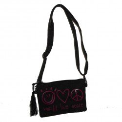 Sac World love peace noir