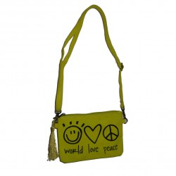 Sac World love peace jaune
