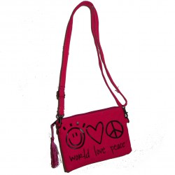Sac World love peace fushia