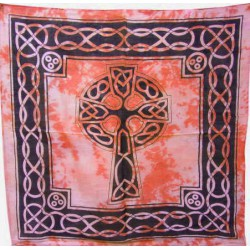 Bandana Croix celtique orange
