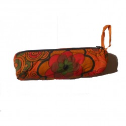Trousse hippie flower orange