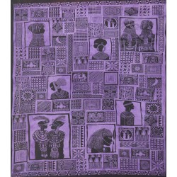 Patchwork tribal africain Violet GM