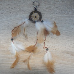 Porte-clef Dreamcatcher marron