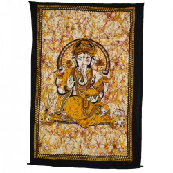 Tenture Dieu Ganesh batik or mini