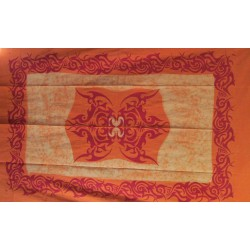 Tenture Tatoo newbatik orange.