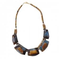 Collier Couleur intense, bleu