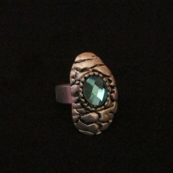 Bague Eternity, bleue.