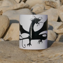 Mug Dragon noir.