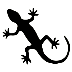Sticker Gecko, noir
