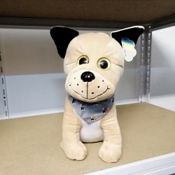 Peluche Bouledogue marron