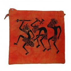 Sac Passeport Guerriers africains orange