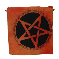 Sac Passeport Pentagramme, orange