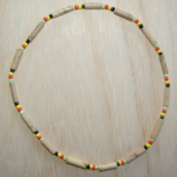 Collier Péruvien marron rasta.