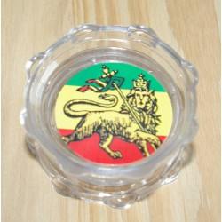 Grinder transparent Lion Rasta